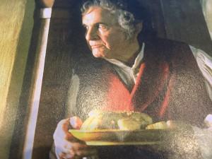 Bilbo Beutlin als Senior in Bruchtal. (Bild aus einem offiziellen Film-Begleitbuch).