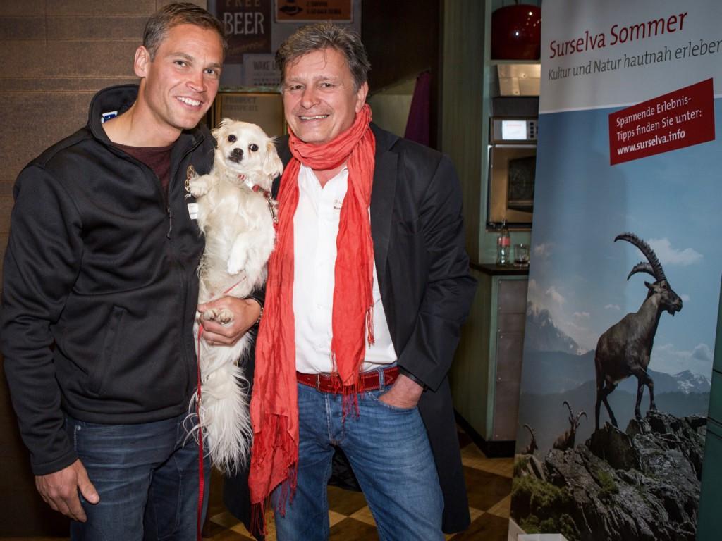 Renzo Blumenthal, Bilbo und der Chef (von links). Fotos: Anastasia Kontounis Delogu, Horn TG